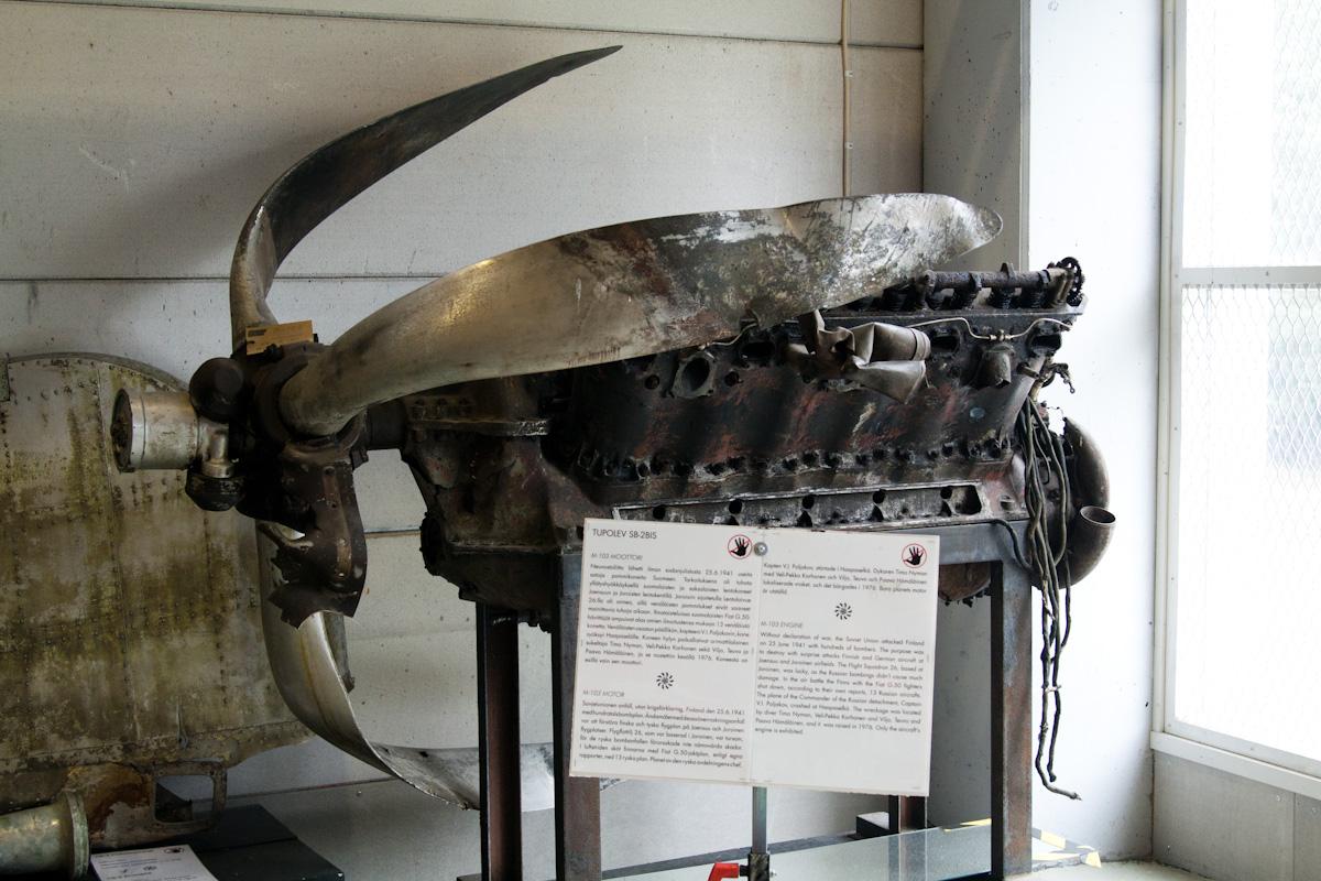 Туполевский движок М-103 с разбившегося самолёта
